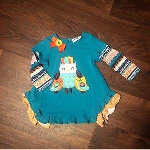 Teal Owl Toddler Shirt